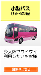 「小型バス(19〜25名)少人数でワイワイ利用したいお客様」詳細はこちら